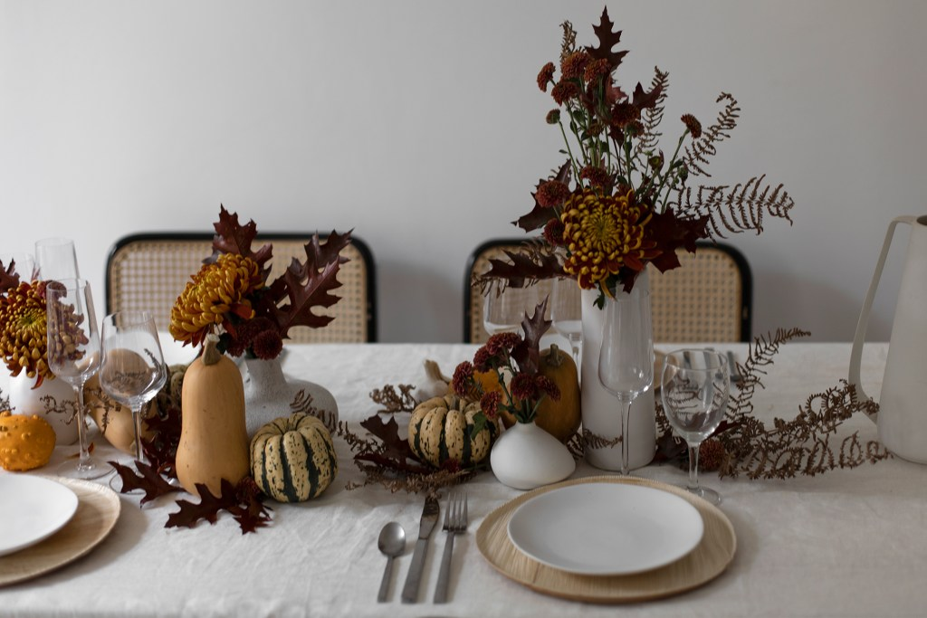 decoration de table automne