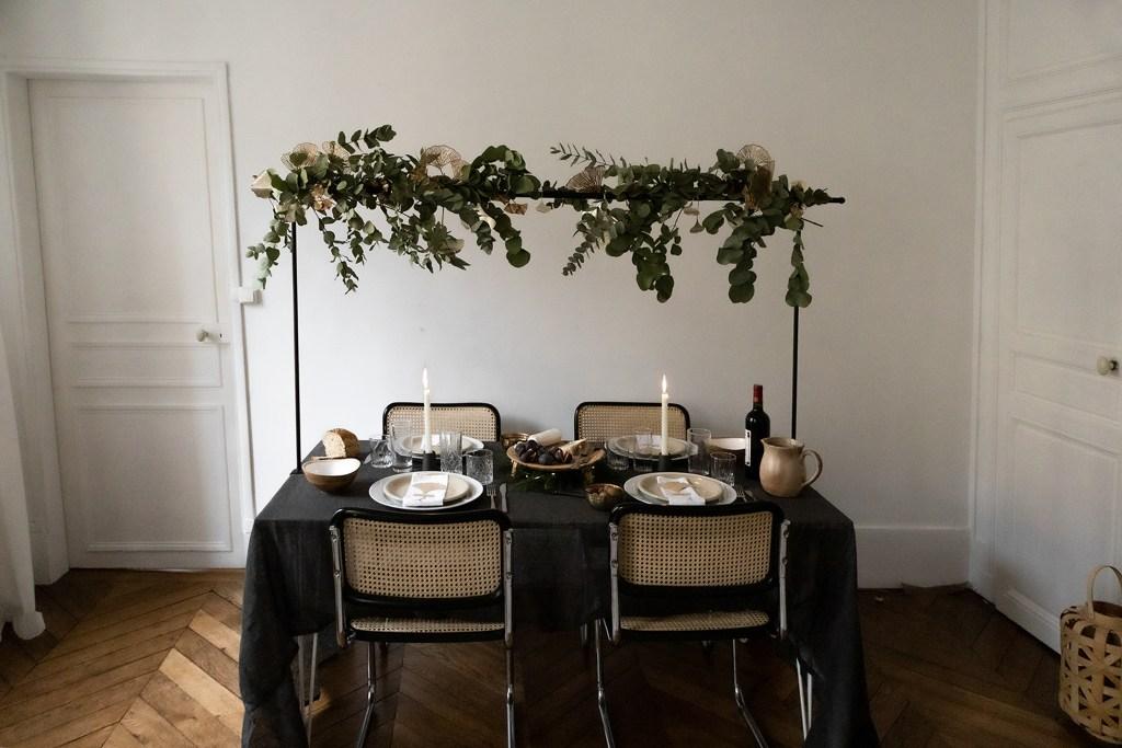 décoration de table festive avec cricut