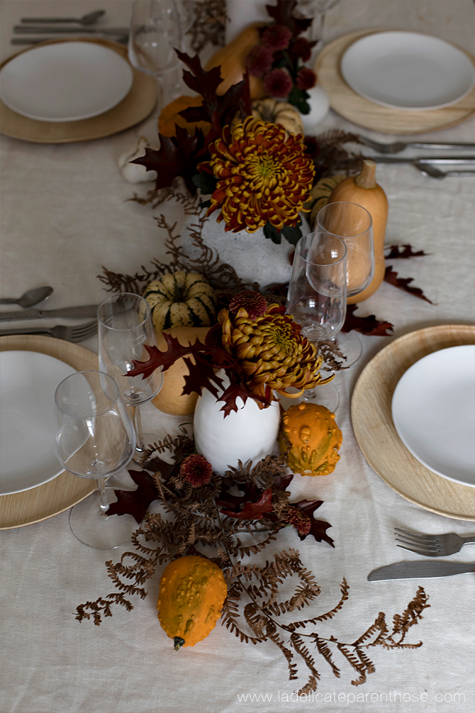 une table decoration automne creation