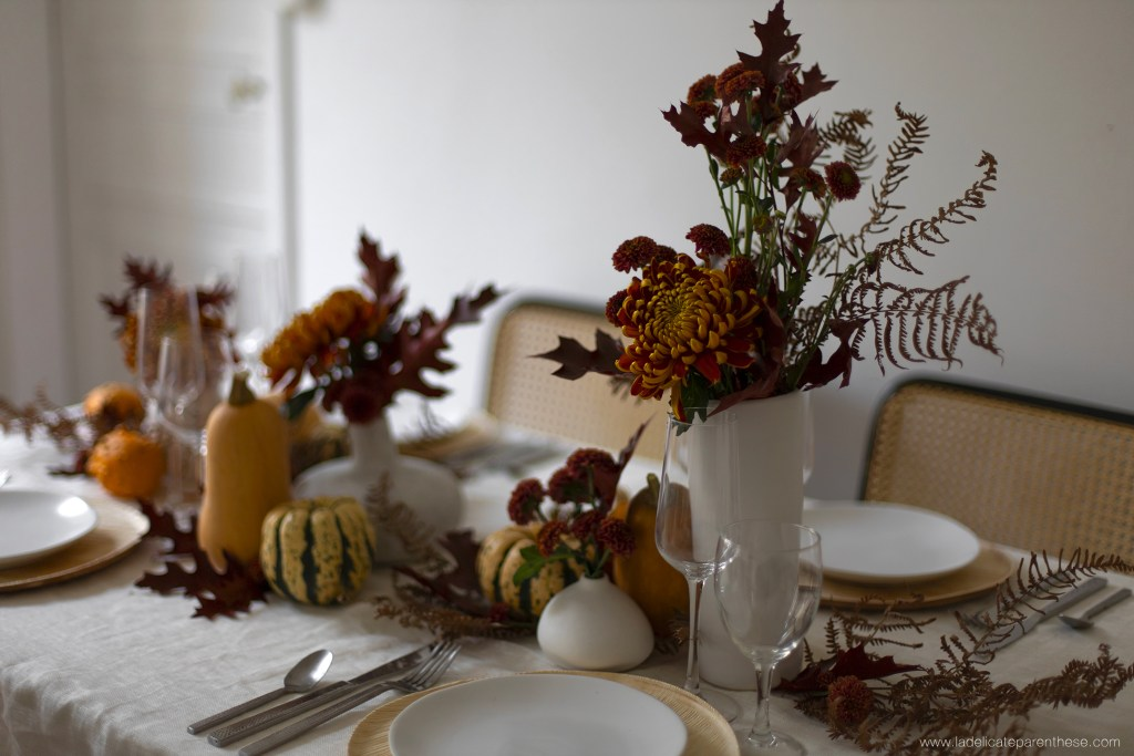 une table decoration automne thanksgiving