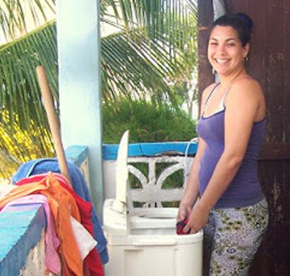Marianela Rodríguez, una de las dos fareras de Cuba./Foto de Rafael Cruz.