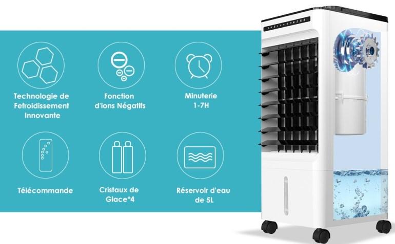 Solde Amazon : Promo actuelle à – 70 € sur le Climatiseur Portable Mkocean bon plan