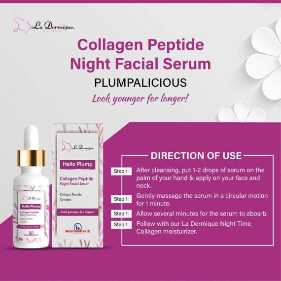 Collagen Peptide Night Facial Serum – 30ml (Plumpalicious) ladermique