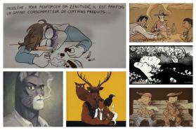 Collage les clopes dans la BD - La Déviation