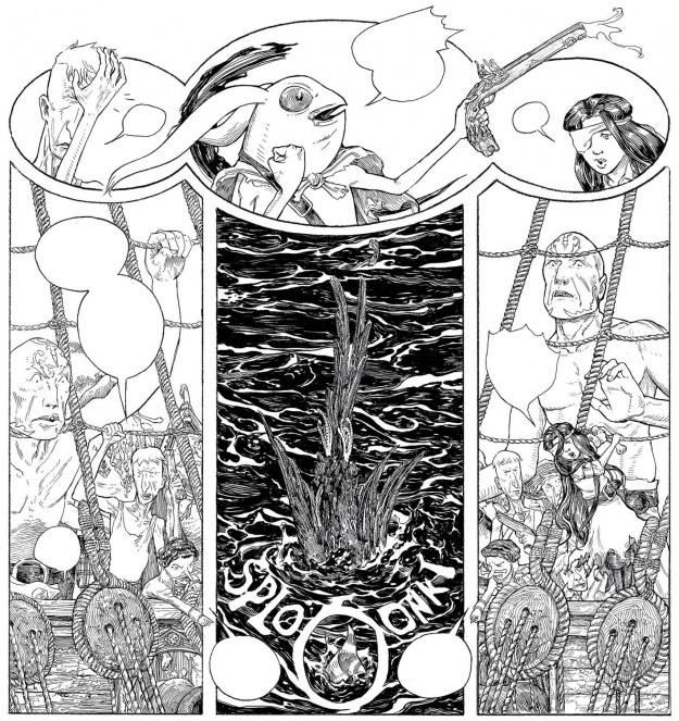 Jeremy Bastian. La fille maudite du capitaine pirate, éditions La Cerise - La Déviation