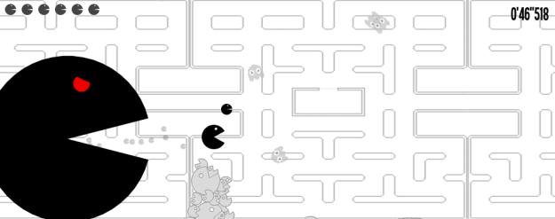 Pacmad par le collectif One life remains, ça se joue là-bas. http://oneliferemains.com/game.php?game=pacmad
