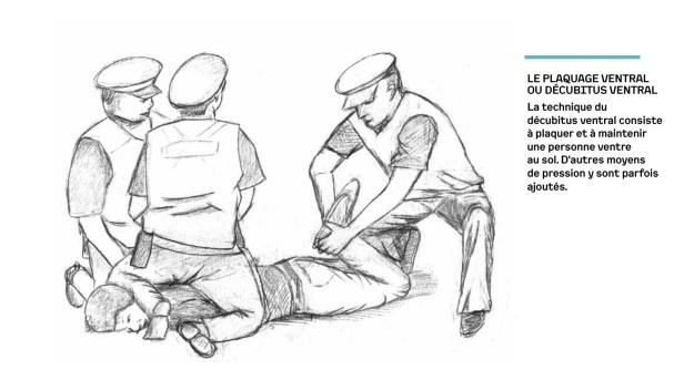 200423 - Plaquage ventral ou décubitus ventral by Acat rapport sur les violences policières - La Déviation