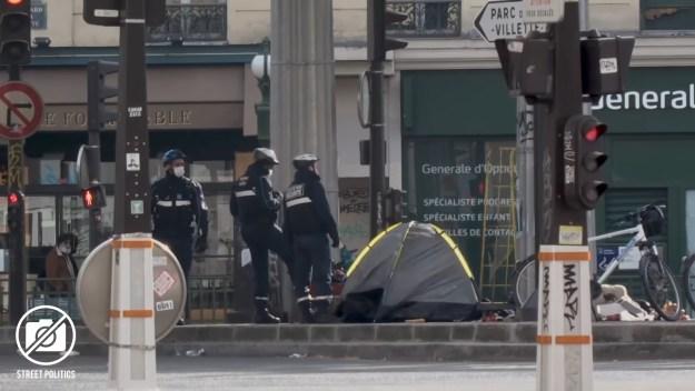 200520 - Capture d'écran vidéo Street Politics Covid 18 dans le nord de Paris sous confinement - La Déviation
