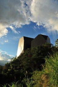 Fighting crime with architecture: a library looms large in the poorest district of Medellin.
