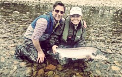 Anne with Lochy fishery manager John Veitch