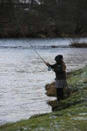 Cast opening day on the Spey