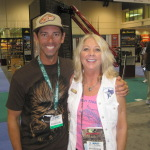 Betty with bass fishing star Mike Iaconelli