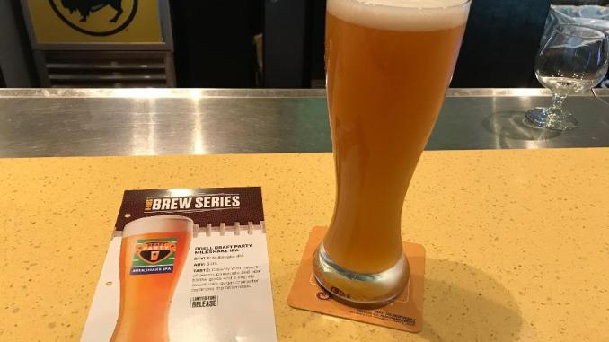 Limited release Odell's Draft Party Milkshake IPA available only Buffalo Wild Wings for your fantasy football draft party.