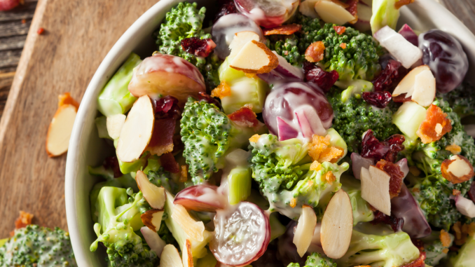Our Best Broccoli Bacon Salad Recipe Ladies Love Fantasy Sports