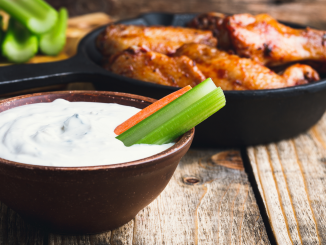 Best Ever Homemade Garlic Blue Cheese Dressing Recipe. This dip simple ingredients include blue cheese crumbles, mayo, sour cream, garlic cloves, and lemon juice.
