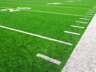 A green football field