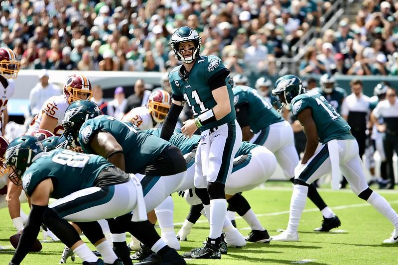 NFL Philadelphia Eagles quarterback Carson Wentz