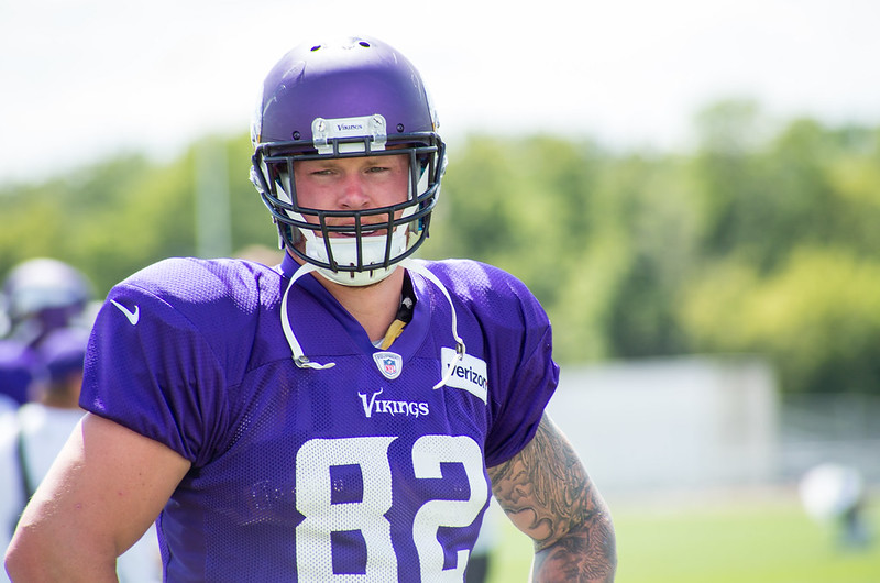 Minnesota Vikings tight end Kyle Rudolph