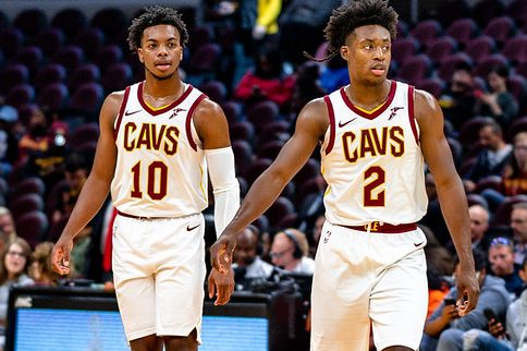 NBA Cleveland Cavaliers players Darius Garland and Collin Sexton