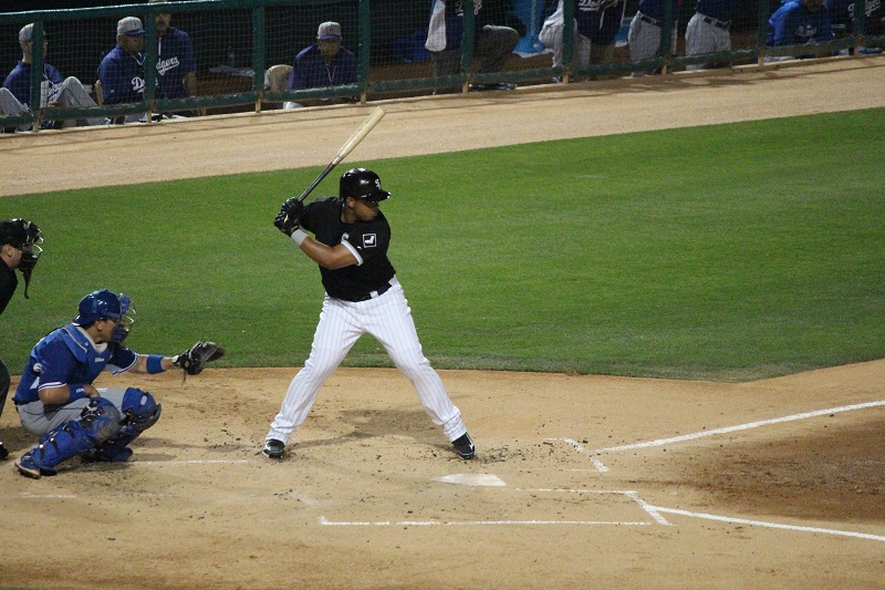 MLB Chicago White Sox first baseman Jose Abreu up to bat.