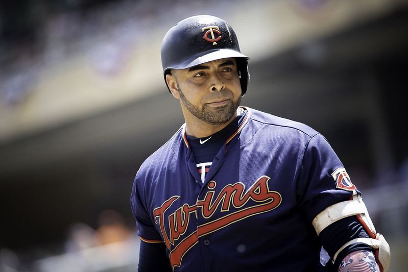 MLB Minnesota Twins designated hitter Nelson Cruz walking up to bat.