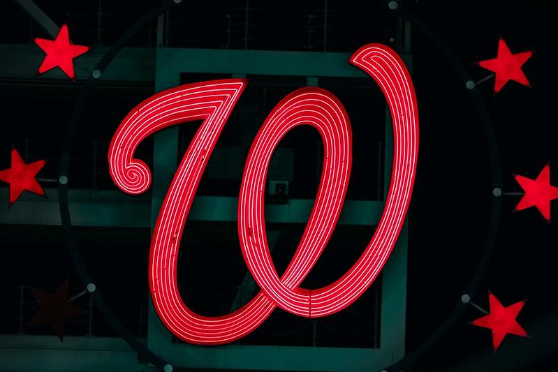 The Washington Nationals Sign at National Park.