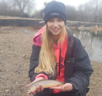 Nebraska Tiger Trout from Two Rivers Recreation Area