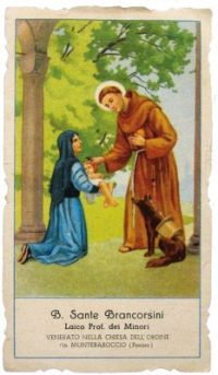 Beato Sante Brancorsini - santino