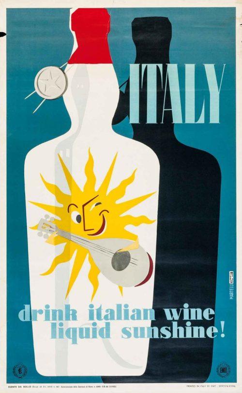 Alessandro Martelli, manifesto turistico per ENIT - 1955