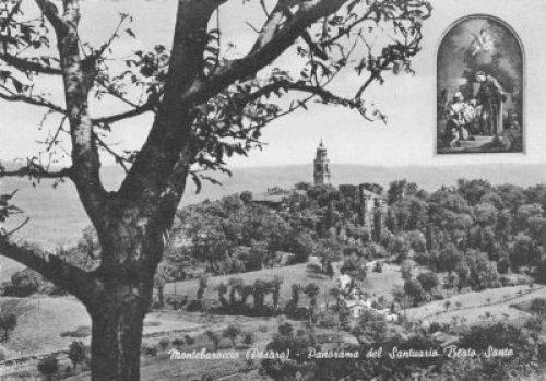 Mombaroccio (PU), il convento del Beato Sante negli anni '60