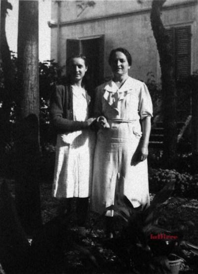 Maria Teresa Badioli con la madre Emilia Barbanti