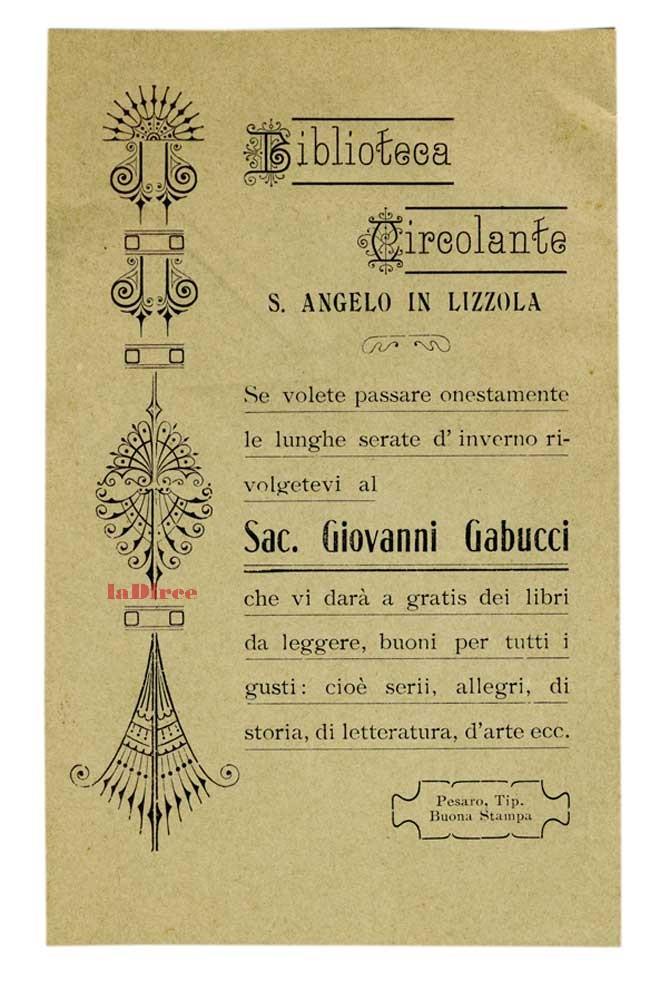 Biblioteca Circolante Sant'Angelo in Lizzola - Giovanni Gabucci