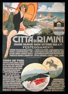 Rimini manifesto turistico 1928 (collezione F.Farina)