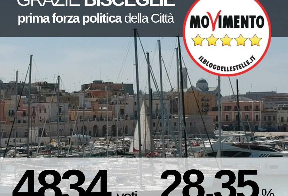 Europee, M5S ringrazia i biscegliesi: siamo il primo partito in città