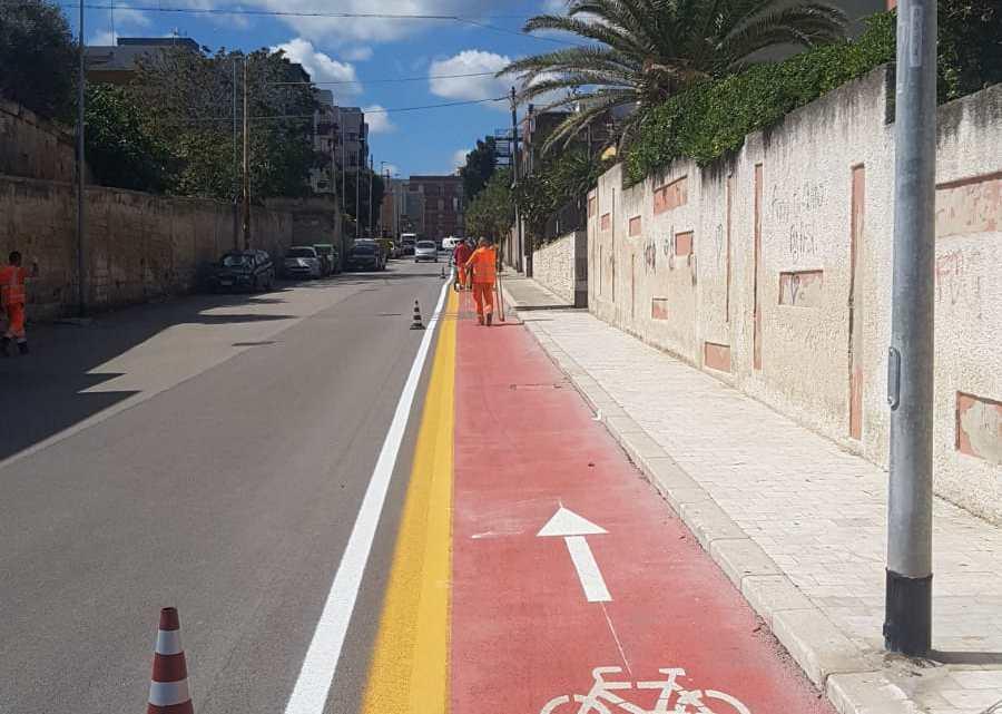 In corso lavori di messa in sicurezza e riqualificazione della pista ciclabile