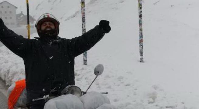 2500 km in 7 giorni per un biscegliese: dalla Bat alle Dolomiti in vespa