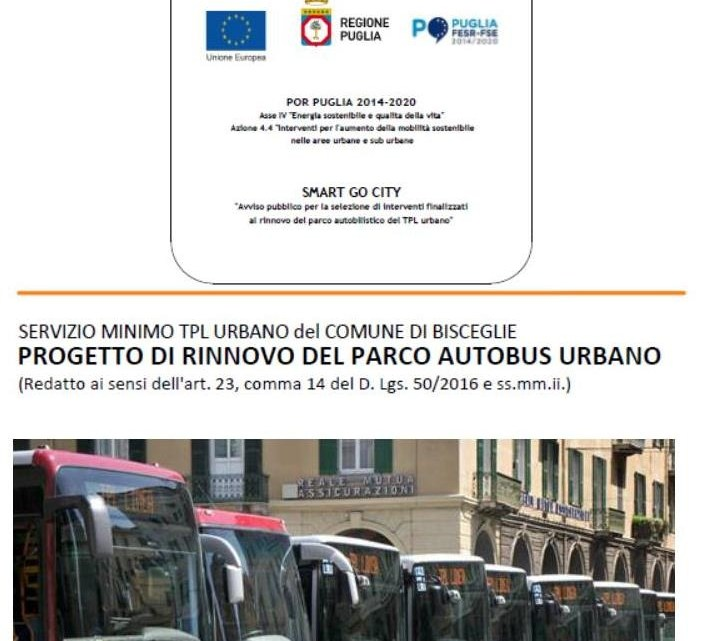 Acquisto di 4 autobus a metano, il Comune di Bisceglie partecipa al bando Smart Go City P