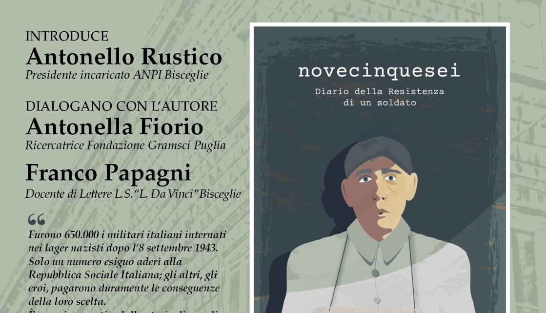"""L'Anpi di Bisceglie presenta il libro """"956 Diario della resistenza di un soldato"""", di Roberto Tarantino"""