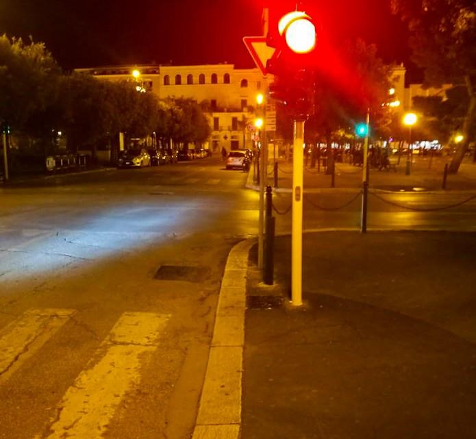Lampade a led in tutti i semafori di Bisceglie