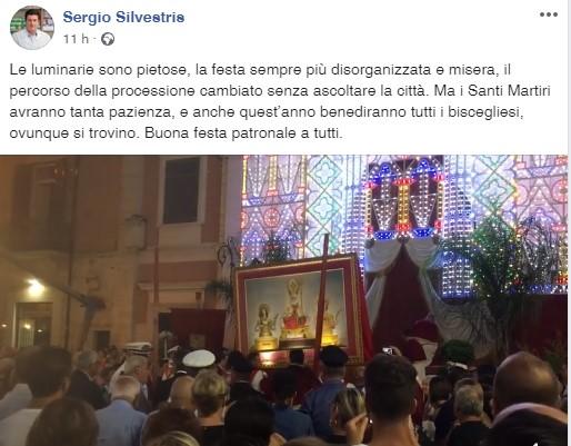Festa Patronale, anche Silvestris condanna luminarie e percorso della Processione