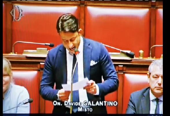 On. Galantino, intervento su fiducia alla Camera: «Il mondo vedrà il bluff dei 5 Stelle»