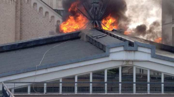 Brucia la Casa Divina Provvidenza, intervengono i Vigili del Fuoco