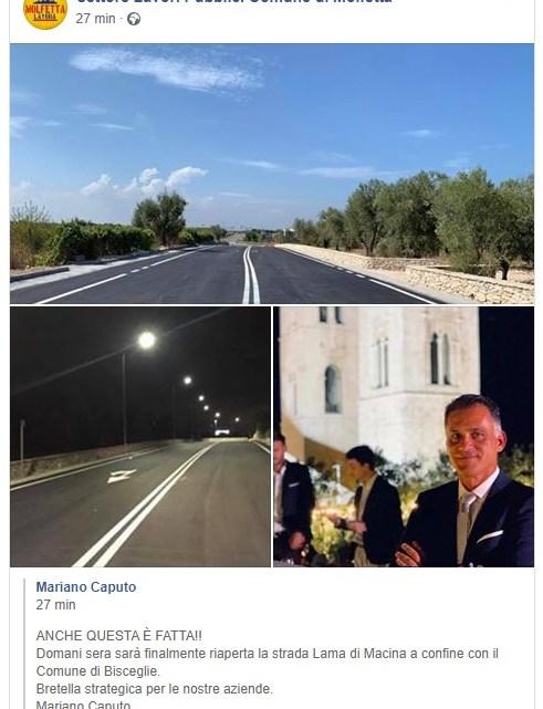 Da domani la strada Lama di Macina sarà aperta al traffico