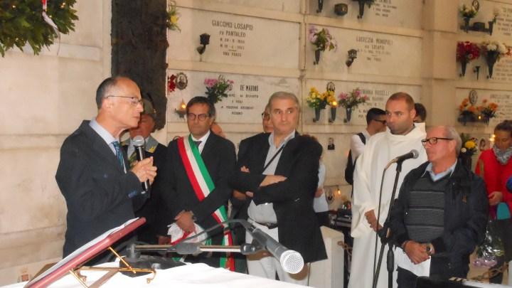Sacrario, commemorati defunti e scoperta targa  in memoria di Mauro Palmiotti