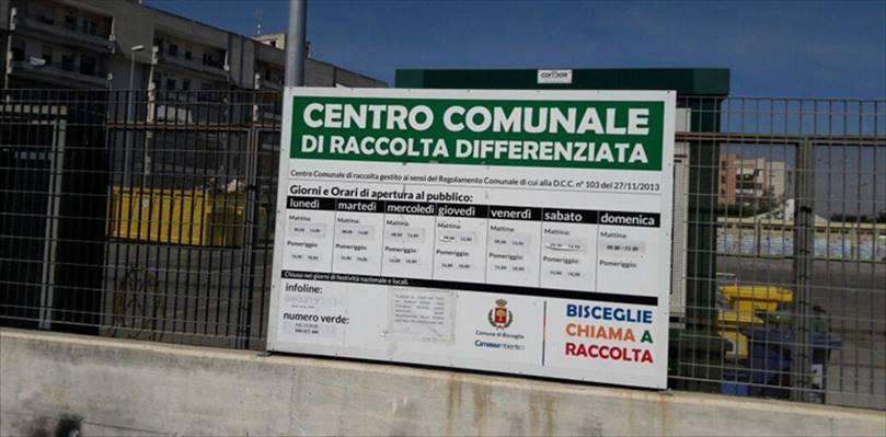 Chiudono i due centri di raccolta rifiuti di Bisceglie