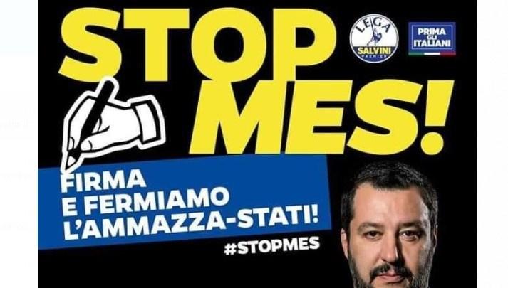 Raccolta firme contro il MES, anche la Lega di Bisceglie in piazza