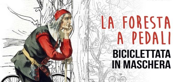 """La foresta a pedali, oggi la """"Biciclettata in maschera"""""""