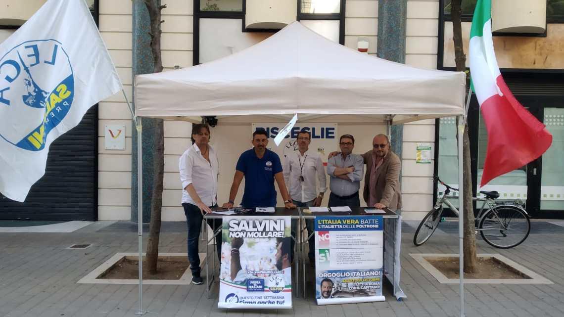 Dalle cartelle Equitalia ai vitalizi, anche la Lega Bisceglie raccoglie firme il 4 luglio