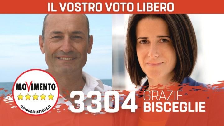 Regionali, Acquaviva (M5S): «A Bisceglie siamo l'alternativa ad Angarano»