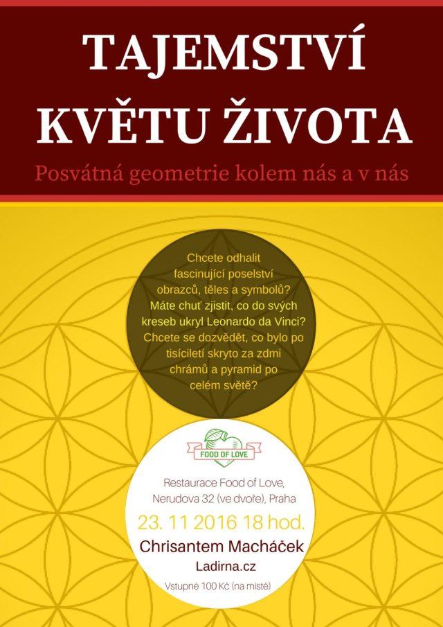 Přednáška o posvátné geometrii Chrisantem Macháček